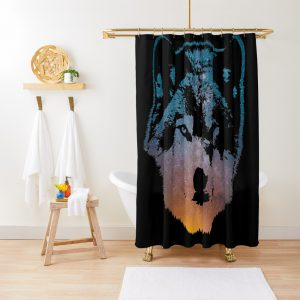 Space Wolf Shower Curtain