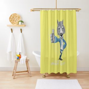 Cautious wolf- Aware Wolf Shower Curtain